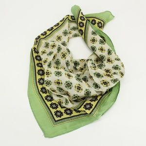 Vintage Green Pattern Scarf